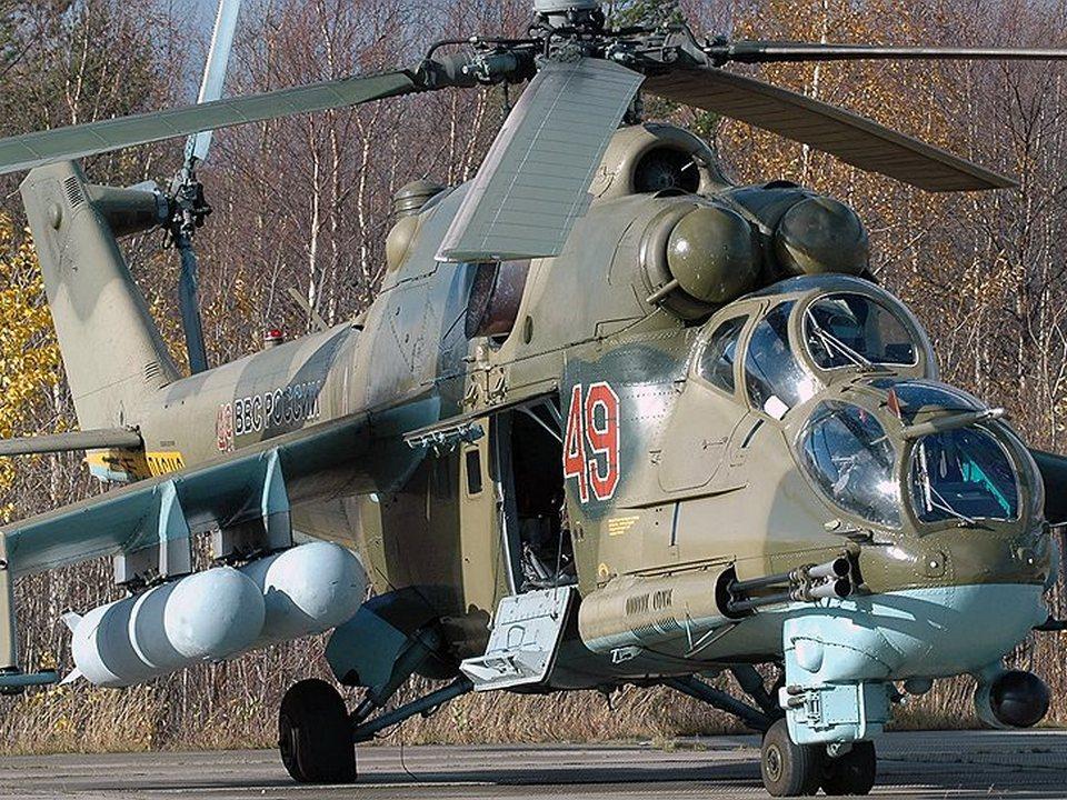 Два вертолёта Ми-24П поступили на вооружение в Каменск-Уральский