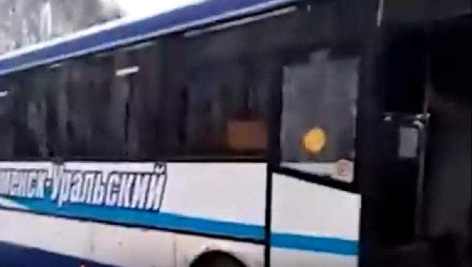 Видео аварии с пассажирским автобусом на трассе Каменск-Уральский - Екатеринбург