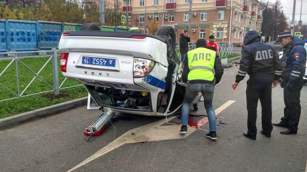 В Казани во время погони за нарушителем инспектору ДПС оторвало ухо