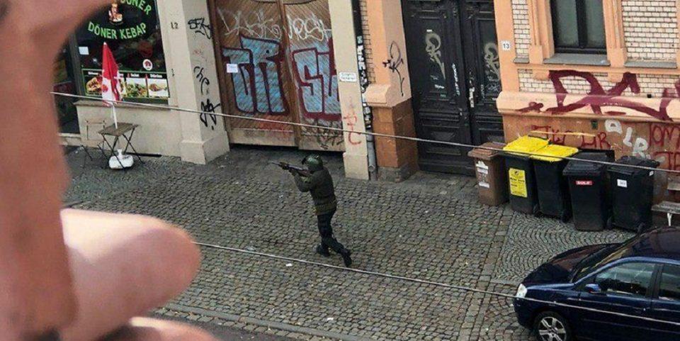Опубликовано видео стрельбы в немецком городе Галле
