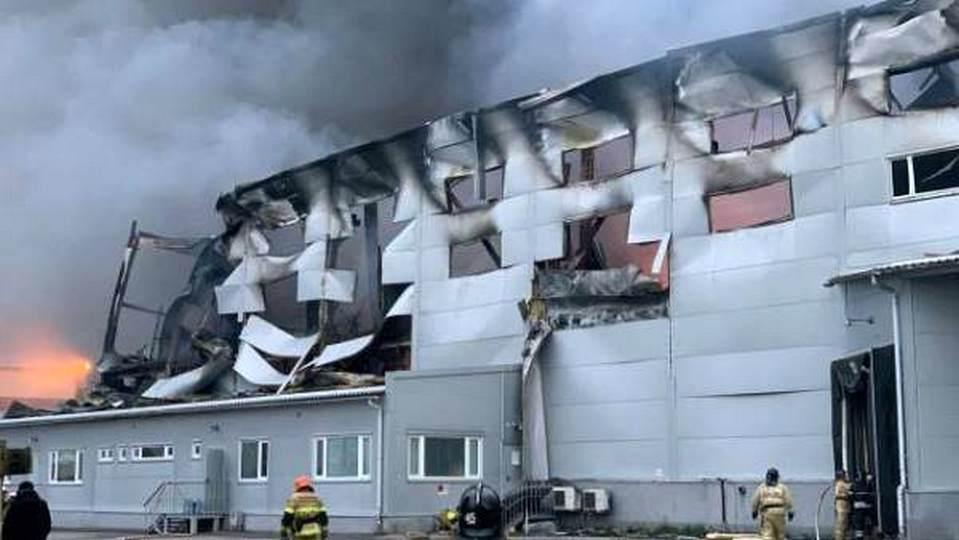 В Подмосковье сгорел склад онлайн-магазина