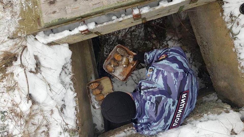Сотрудники ФСБ Свердловской области нашли тайник с гранатами