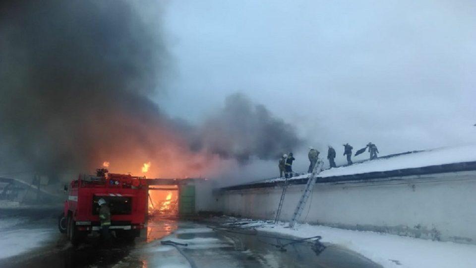 В Нижнем Тагиле на птицефабрике загорелся склад готовой продукции