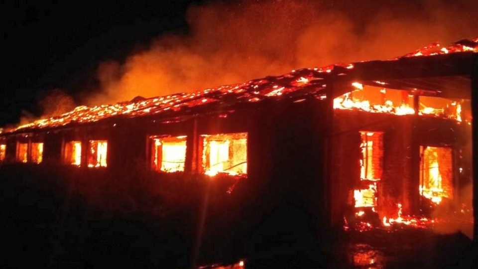 При пожаре в Саратовской области сгорели 10 тысяч кроликов