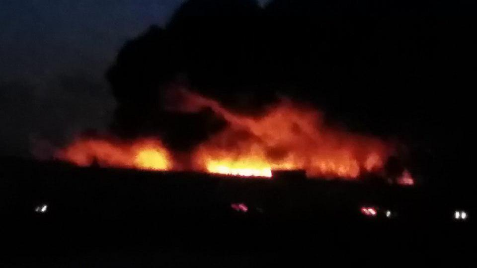 компрессорный завод горит в Челябинске