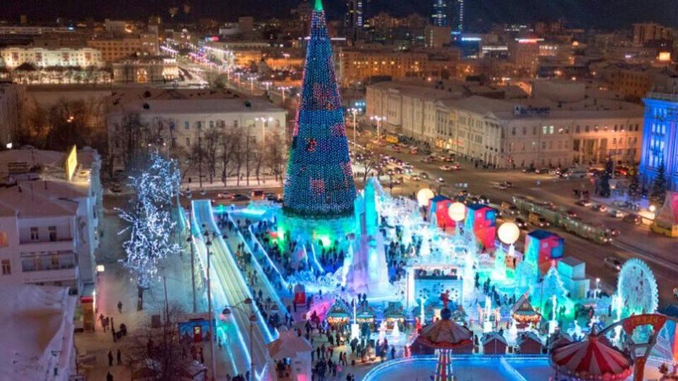 Главная елка Екатеринбурга стала второй по высоте в России