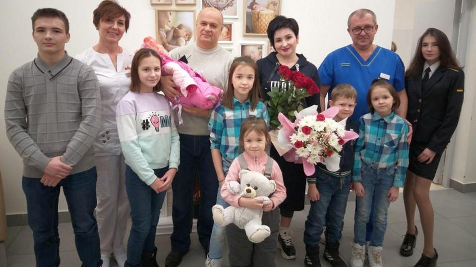 41-летняя жительница Подмосковья родила девятого ребенка
