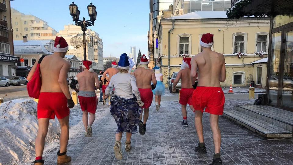 Полуголые Деды Морозы и Снегурочки пробегут по Екатеринбургу