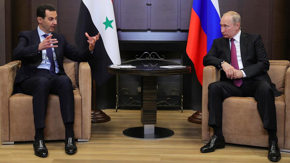 Путин прибыл в Сирию и встретился с Башаром Асадом