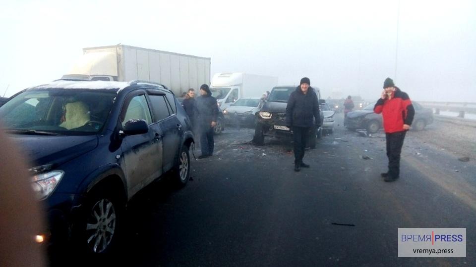 На трассе Пермь — Екатеринбург в ДТП пострадала 21 машина