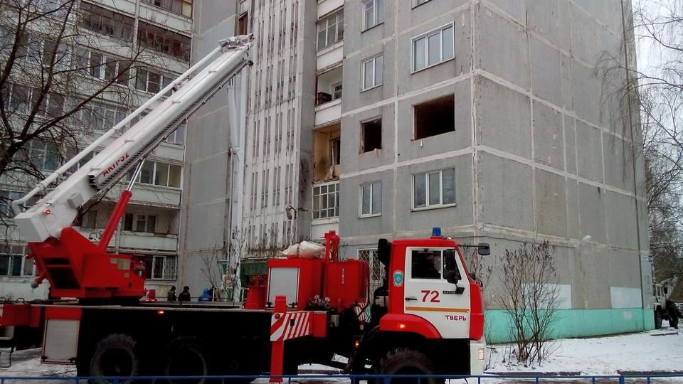 Взрыв газа в многоэтажке Твери попал на видео