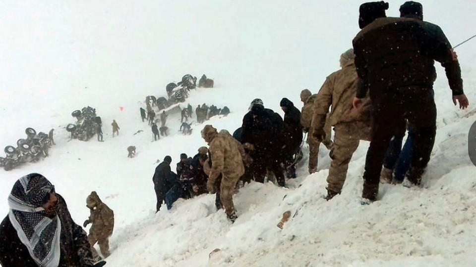 Сход снежной лавины в Турции: десятки погибших