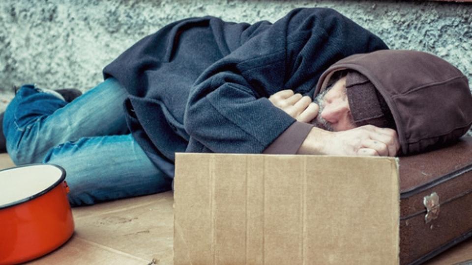 бездомный в Глазго