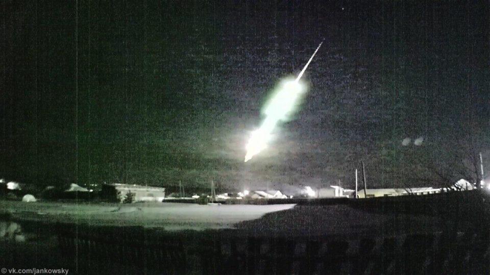 Ученые ищут обломки метеора, пролетевшего над Уралом