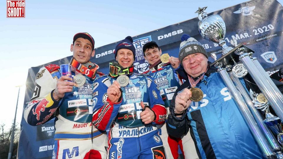 Дмитрий Хомицевич стал 10-кратным Чемпионом Мира по мотогонкам на льду