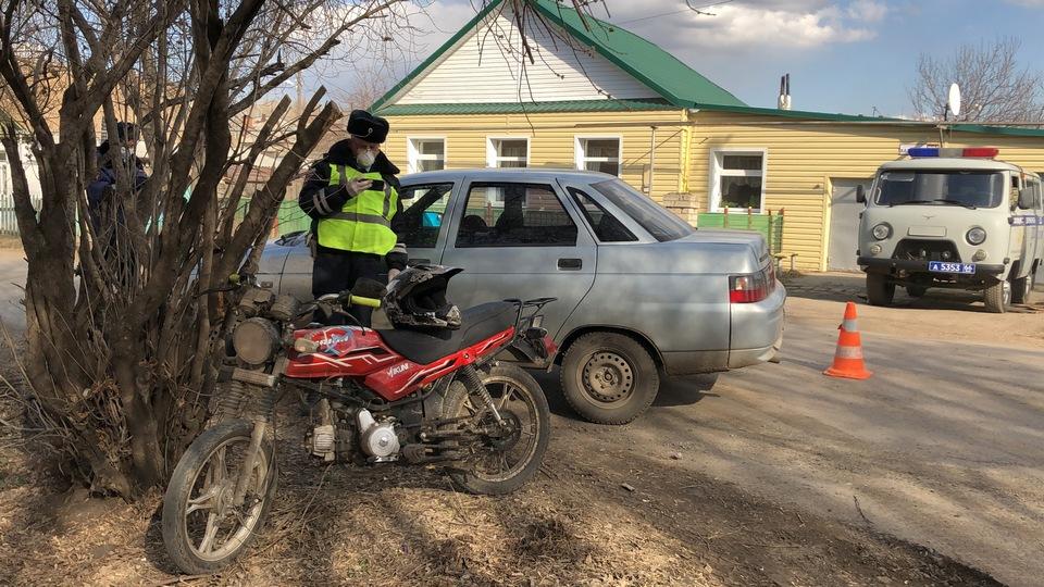 Один человек пострадал в ДТП с мопедом в Каменске-Уральском