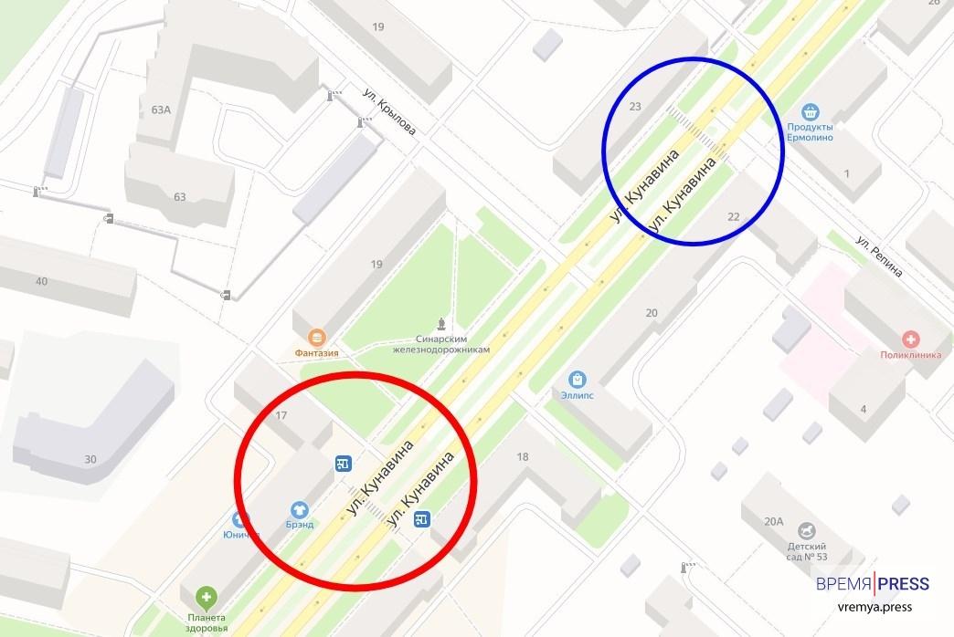 В Каменске-Уральском ликвидировали пешеходный переход на улице Кунавина