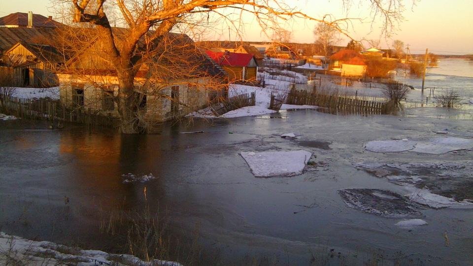 Уровень рек в Пермском крае поднялся из-за аномально теплой погоды