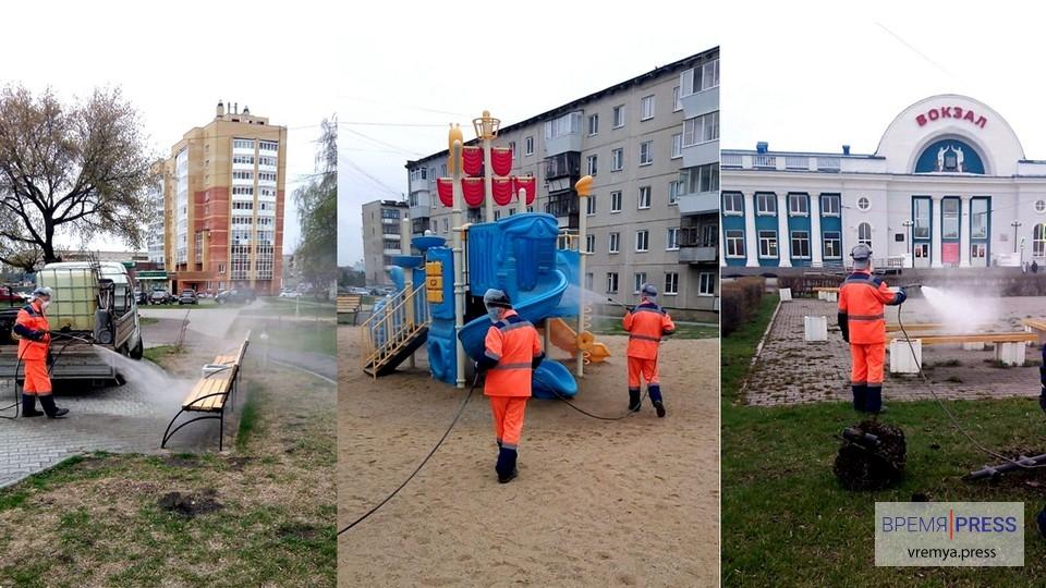 В Каменске-Уральском продолжается дезобработка общественных мест