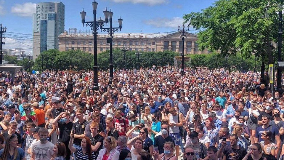 Хабровский митинг в поддержку арестованного губернатора Фургала: мнение изнутри