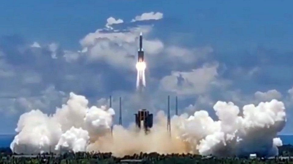Китай успешно запустил зонд на Марс