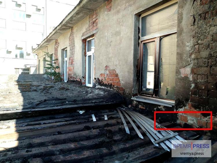 Вот как выглядела постройка после ликвидации пожара.