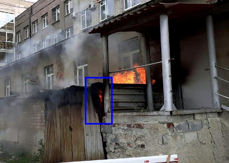 Пожара в центре города