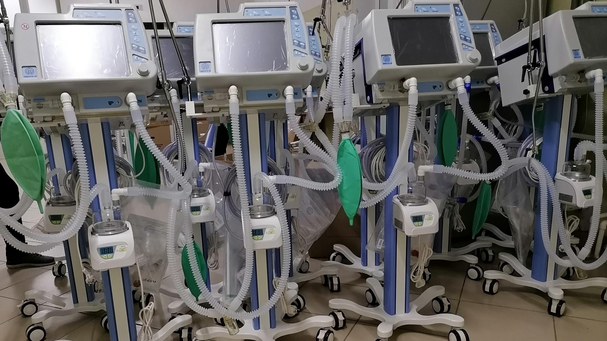 Еще 20 ИВЛ поступили в больницу Каменска-Уральского