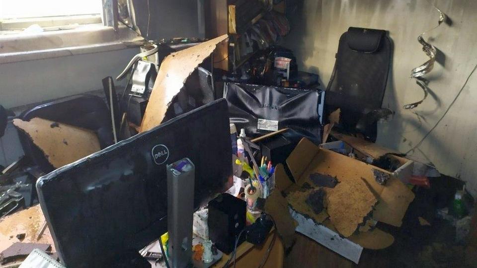 В Челябинске произошел пожар в здании ЮУрГУ