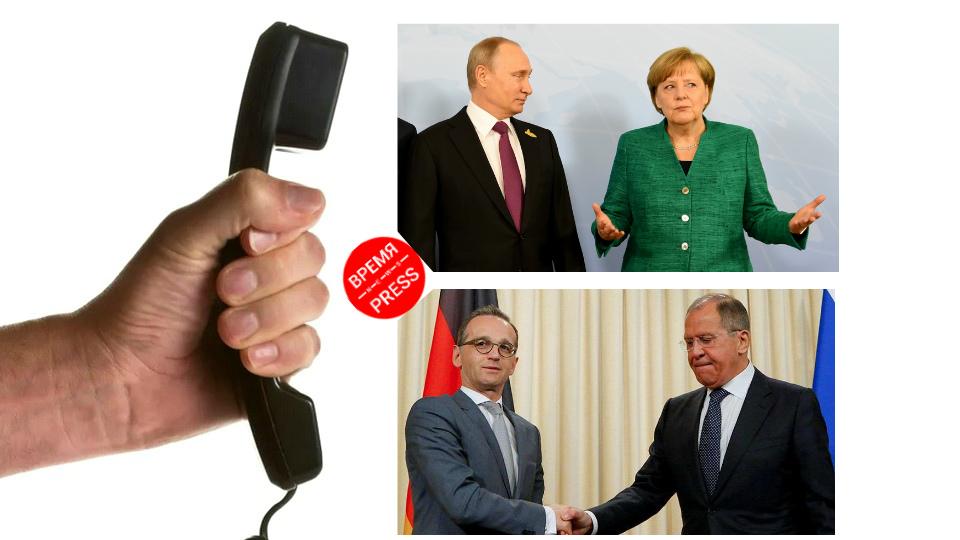 Путин поговорил с Меркель, а Лавров с Маасом о ситуации в Белоруссии
