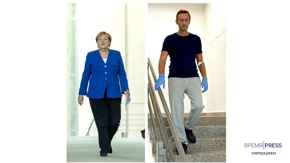 Меркель тайно посещала Навального