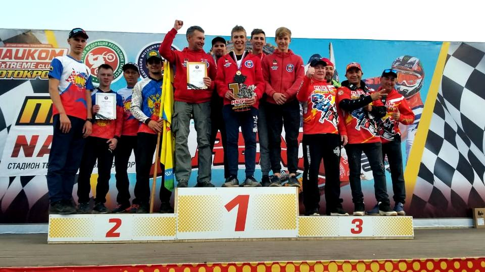Команда ЦТВС Свердловской области стала первой в командном зачете Кубка России по мотокроссу