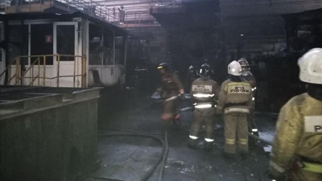 На КУМЗе в 5 утра произошел пожар