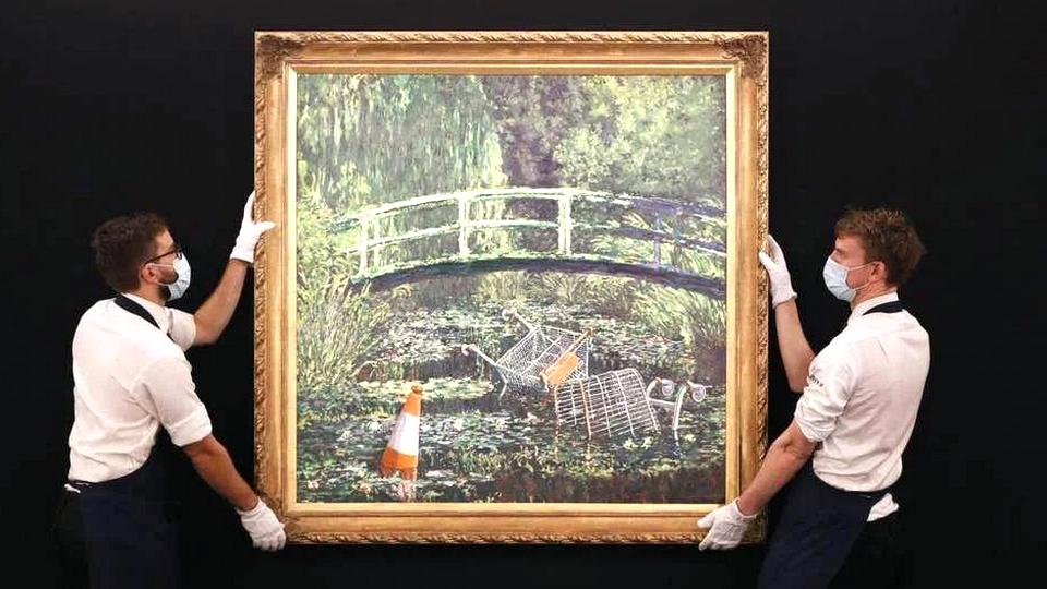 Картину Бэнкси Покажи мне Моне продали почти за $10 млн