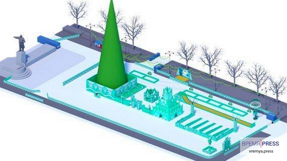 Опубликован проект ледового городка в Екатеринбурге