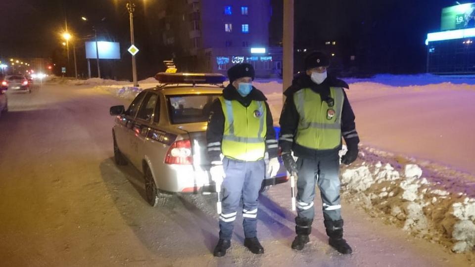 1 января в Каменске-Уральском сотрудники ГИБДД задержали семь пьяных водителей