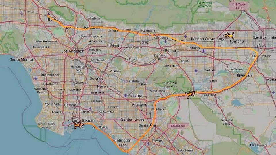 Над Лос-Анджелесом были замечены чёрные вертолёты
