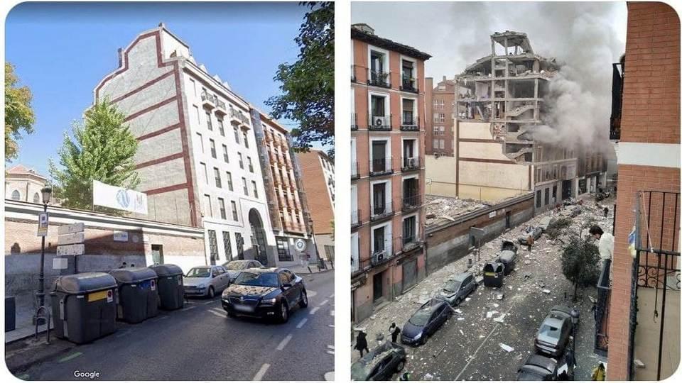В Сети появилась видеозапись взрыва в Мадриде