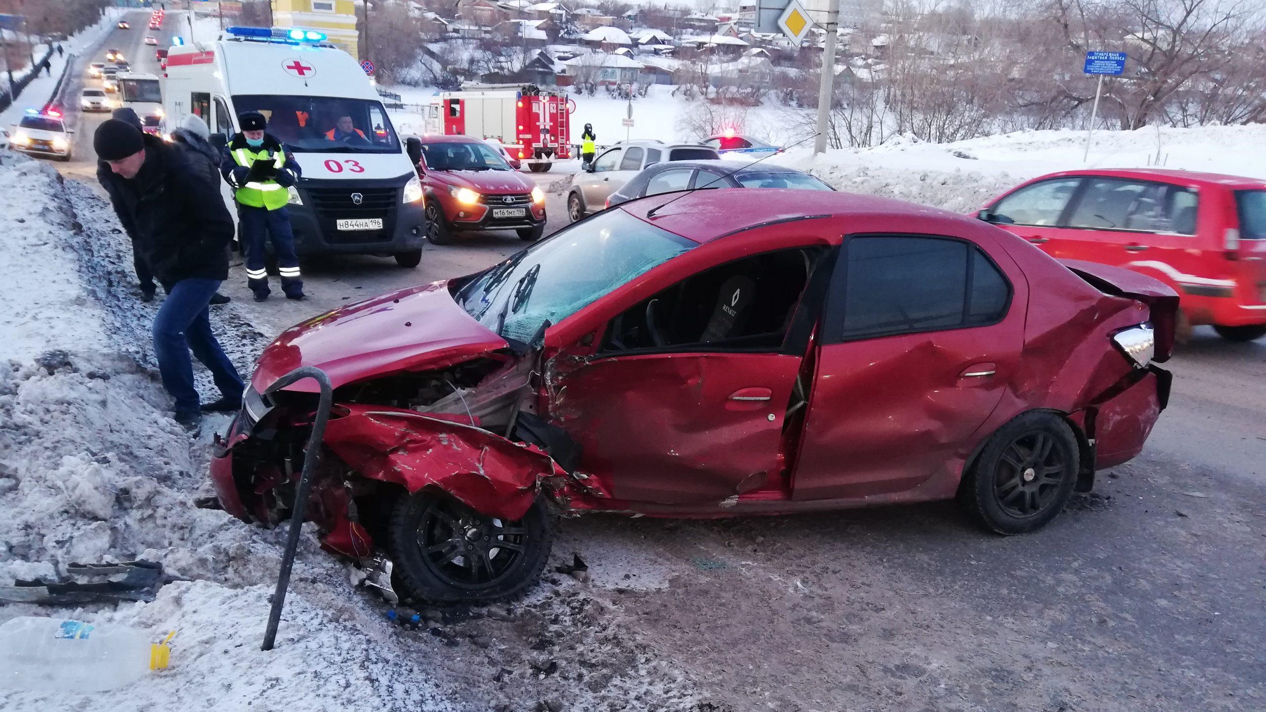 В Каменске-Уральском в ДТП пострадали два человека