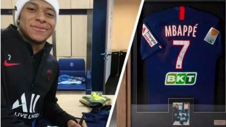 Футболка Килиана Мбаппе ушла с молотка за 1 миллион 100 тысяч рублей