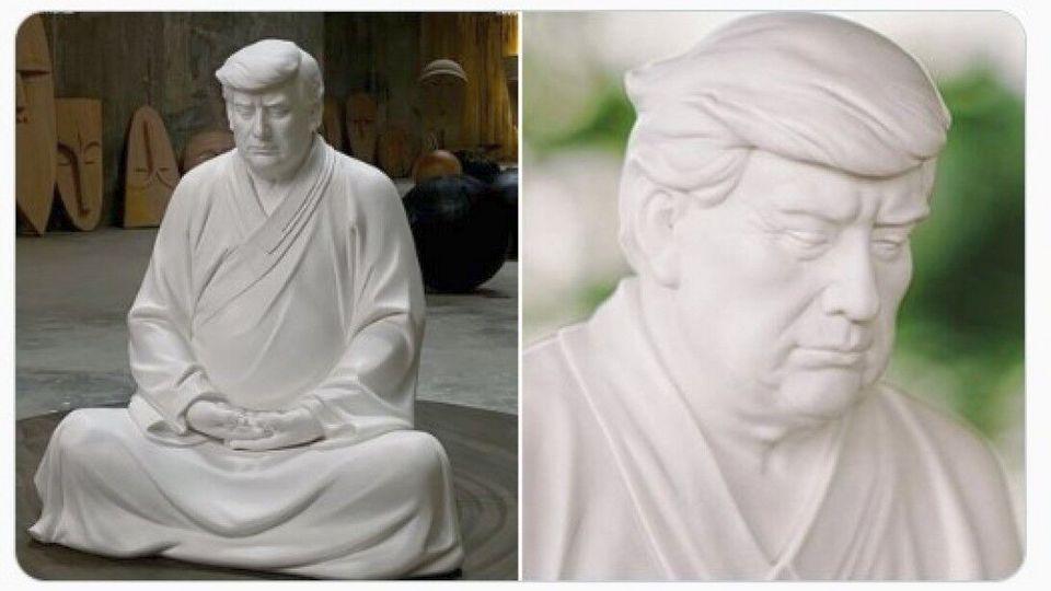 Китаец продает через интернет статуи Трампа в образе Будды