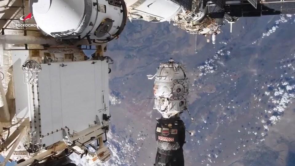 """Роскосмос показал процесс отстыковки модуля """"Пирс"""" от МКС"""