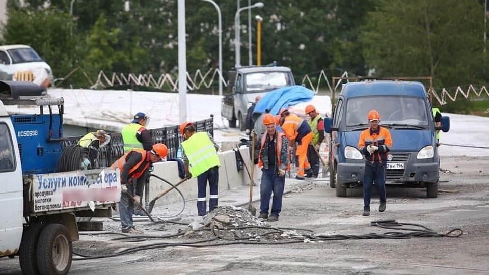 Куйвашев пообещал завершение ремонта моста у Россельбана на две недели раньше срока