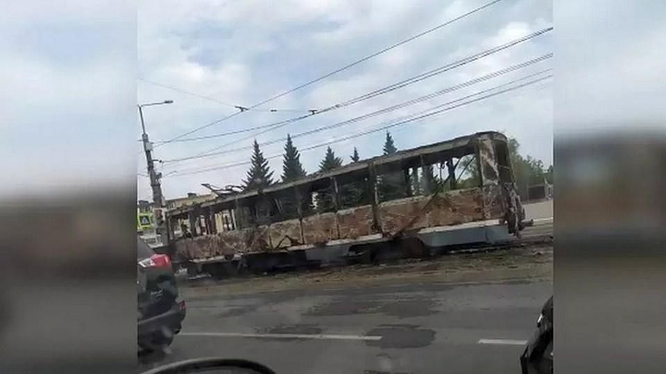 Трамвай загорелся на ходу в Нижнем Тагиле