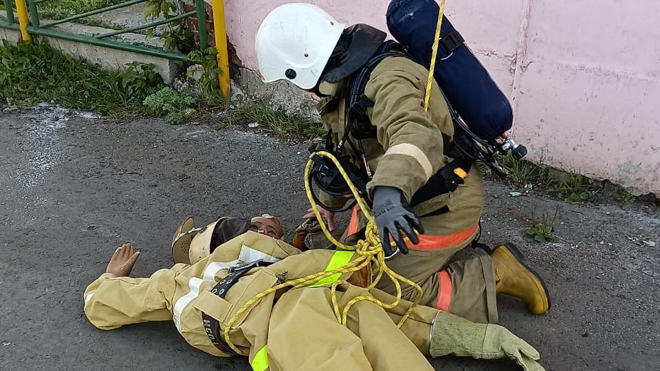 На СинТЗ прошли учения для спасателей