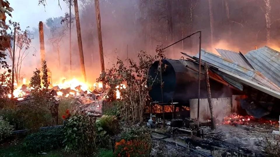 В Екатеринбурге за ночь сгорели десять дачных построек