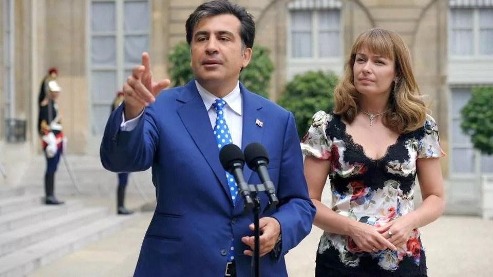 Признание Саакашвили о любовнице шокировало его официальную жену Сандру Рулофс